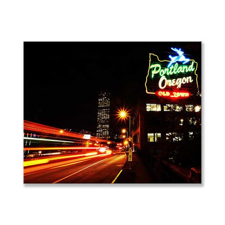 """Portland Oregon Canvas (12""""W x 16""""H x 2""""D)"""