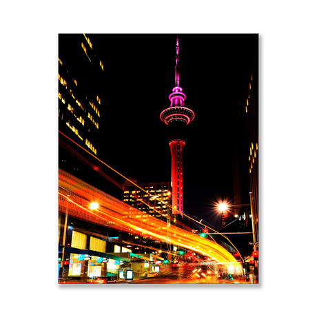 "Auckland at Night Canvas (12""W x 16""H x 2""D)"