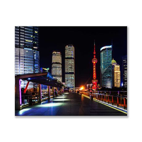"Pudong Skyline Tower Canvas (12""W x 16""H x 2""D)"