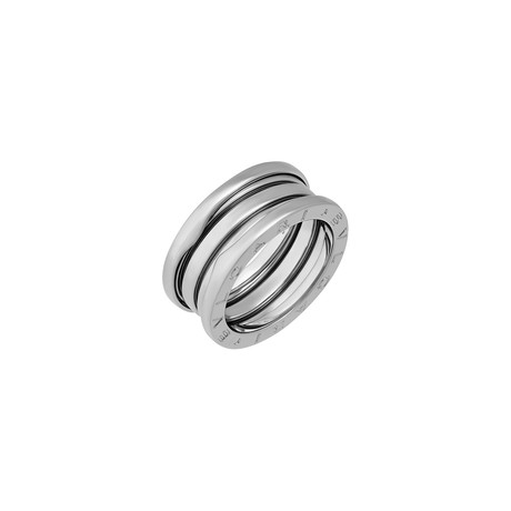 Vintage Bulgari 18k White Gold B.Zero1 3 Band Ring (Ring Size: 6)