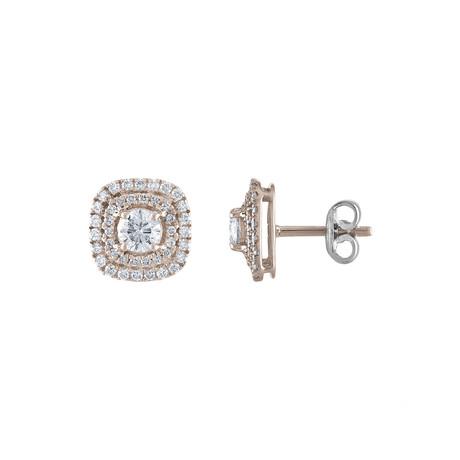 Estate 18k White Gold Diamond Earrings