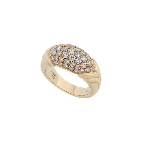 Vintage Boucheron 18k Yellow Gold Diamond Ring // Ring Size: 8