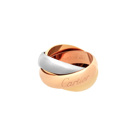 Cartier 18k Three-Tone Gold Medium Trinity Ring // Ring Size: 3.75 // Pre-Owned