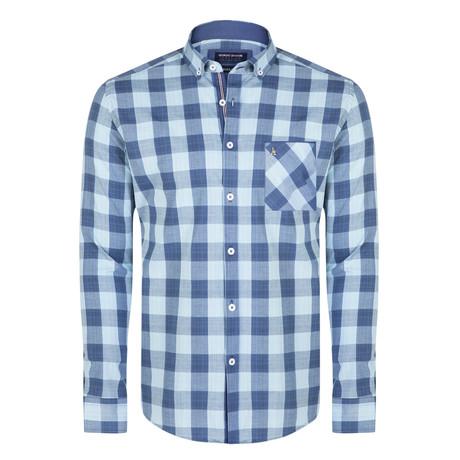 Brendan Shirt // Navy + Light Blue (XS)