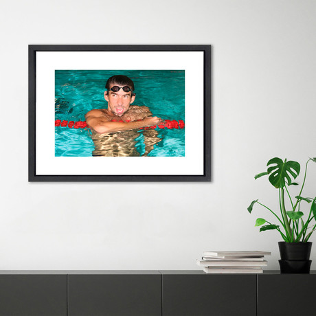 """Michael Phelps // Great Moments in History (12""""W x 16""""H x 2""""D)"""