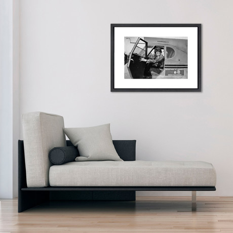 """Amelia Earhart // Great Moments in History (12""""W x 16""""H x 2""""D)"""