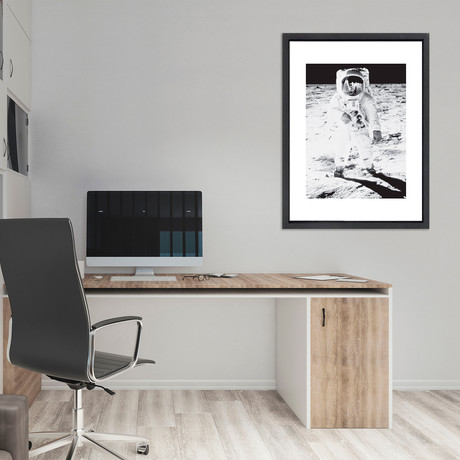 """Neil Armstrong // Great Moments in History (12""""W x 16""""H x 2""""D)"""
