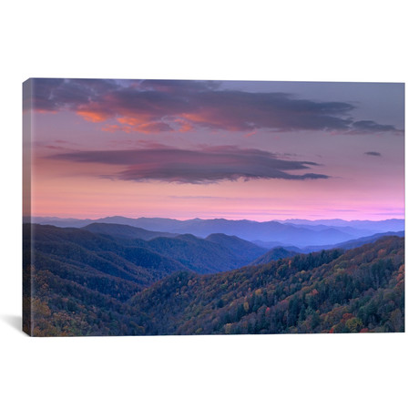"Newfound Gap, Great Smoky Mountains National Park, North Carolina by Tim Fitzharris (26""W x 18""H x 0.75""D)"