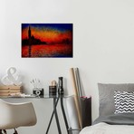 "Sunset in Venice // Claude Monet (40""W x 26""H x 1.5""D)"