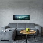 "Aurora Borealis Panorama, Iceland // Matteo Colombo (60""W x 20""H x 0.75""D)"