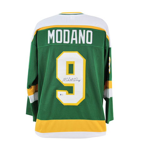 Signed Jersey // Green // North Stars Mike Modano