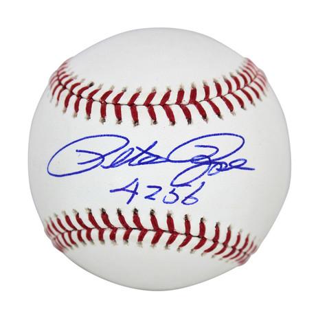 """Signed Oml Baseball // Reds Pete Rose """"4256"""""""