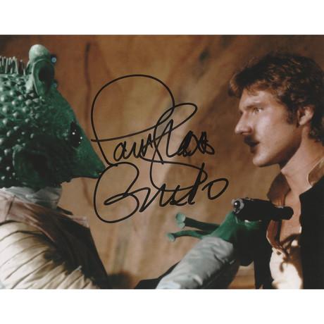 "Signed Photo // Star Wars ""Greedo"" // Paul Blake"