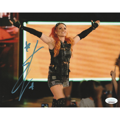 """Signed Photo // WWE """"The Man"""" // Becky Lynch // Ver. I"""