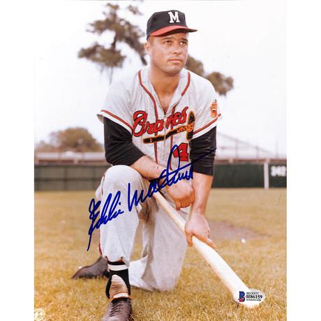Signed Photo // Braves Eddie Mathews