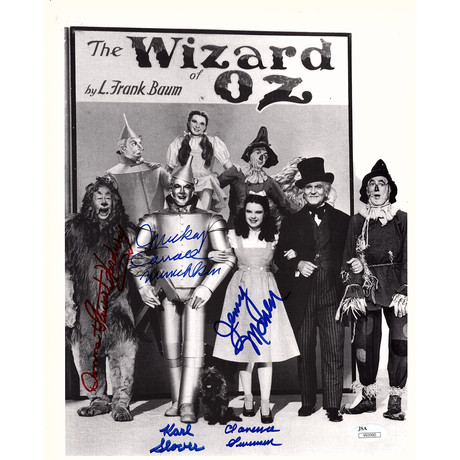 """Signed Photo // The Wizard of Oz """"Munkins"""" // Cast"""