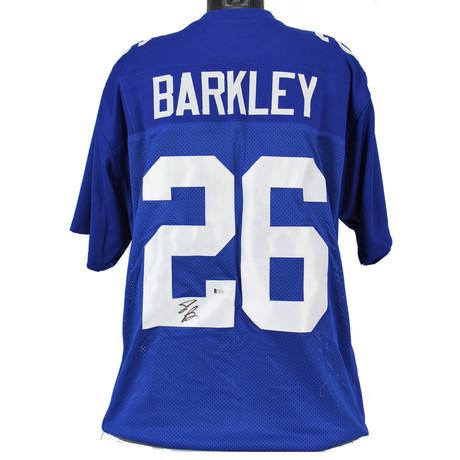 Signed Jersey // Blue // Giants Saquon Barkley