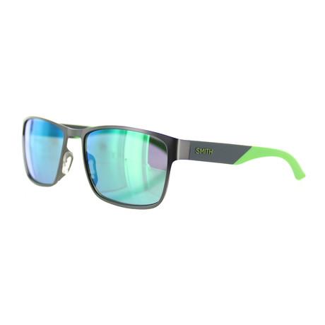 Smith // Men's Contra Square Sunglasses // Semi-Matte Dark Ruthenium