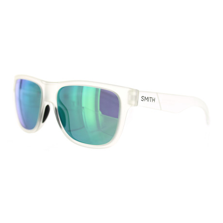 Smith // Women's Square Sunglasses // Crystal + Green