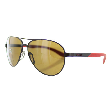 Smith // Unisex Aviator Sunglasses // Matte Gold + Grey Green