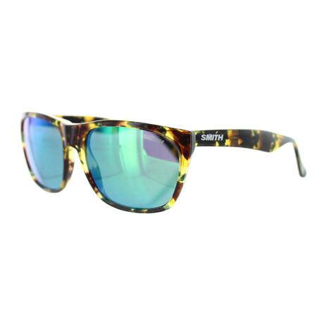 Smith // Unisex Square Sunglasses // Green Havana