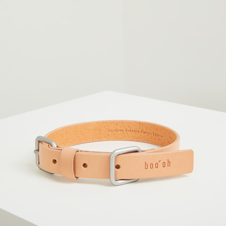 Lumi Collar // Silver + Tan (Small)