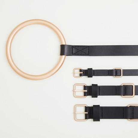 Lumi Leash + Collar Set // Gold + Black (Small)
