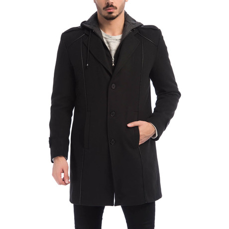 Paris Overcoat // Black (Small)