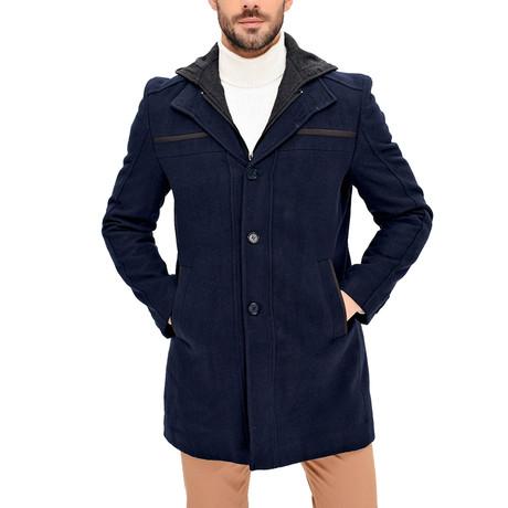 PLT8360 Overcoat // Dark Blue (S)