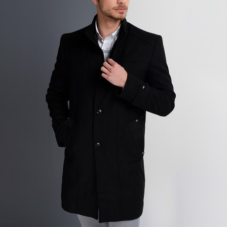 Florence Overcoat // Black (Small)