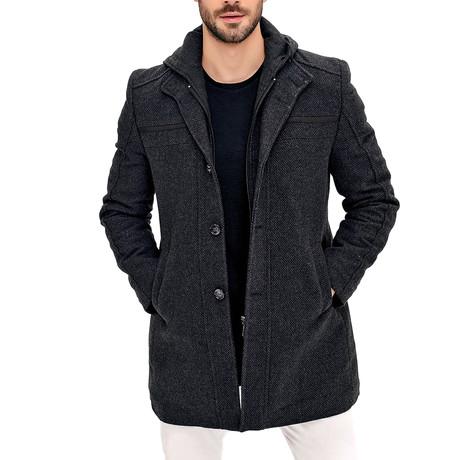 PLT8360 Overcoat // Patterned Gray (S)