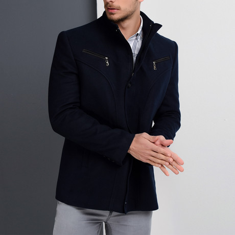 K7133 Coat // Dark Blue (S)
