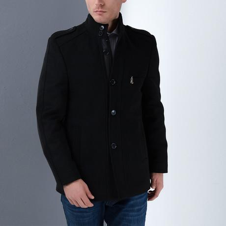 Seville Overcoat // Black (Small)