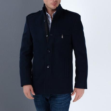 PLT8378 Coat // Dark Blue (S)