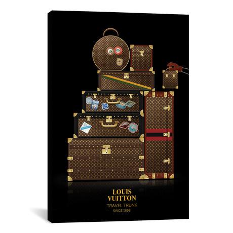 """Travel Trunk, Louis Vuitton, Since 1858 // Alexandre Venancio (12""""W x 18""""H x 0.75""""D)"""