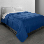 All-Season Triple Brushed Microfiber Down-Alternative Comforter // Navy (Twin)
