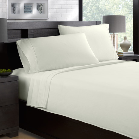 Sateen Smooth & Silky 4-Piece Sheet Set // Cream (Full)