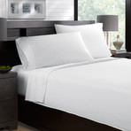 Sateen Smooth & Silky 4-Piece Sheet Set // White (Full)