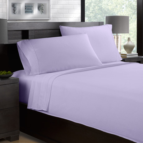 Sateen Smooth & Silky 4-Piece Sheet Set // Lilac (Full)