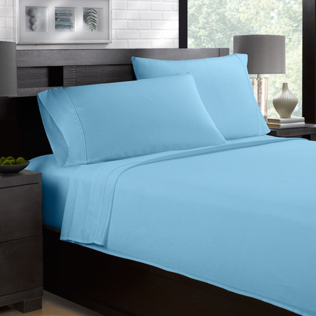 Sateen Smooth & Silky 4-Piece Sheet Set // Ocean (Full)