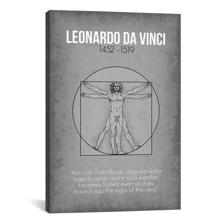 "Leonardo da Vinci (18""W x 26""H x 0.75""D)"