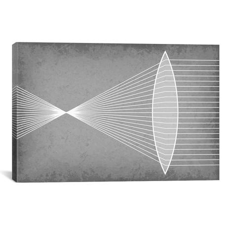 "Refraction Through a Convex Lens (26""W x 18""H x 0.75""D)"