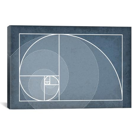 "Fibonacci Sequence Spiral (26""W x 18""H x 0.75""D)"