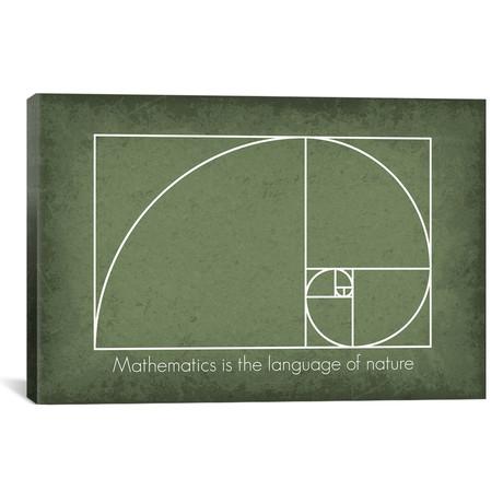 "Fibonacci Spiral Math Quote (26""W x 18""H x 0.75""D)"