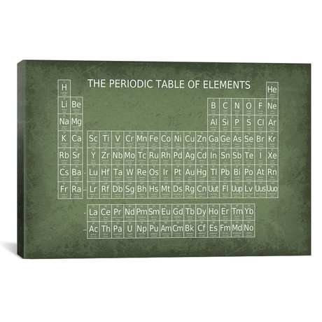 "Periodic Table of Elements (26""W x 18""H x 0.75""D)"
