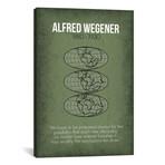 """Alfred Wegener // GetYourNerdOn (26""""W x 40""""H x 1.5""""D)"""