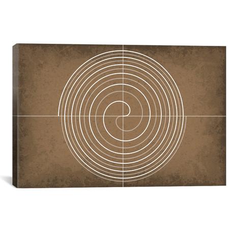 """Fermat's Spiral (26""""W x 18""""H x 0.75""""D)"""