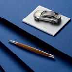 Cambiano Aluminium Pen + Ruled Notebook