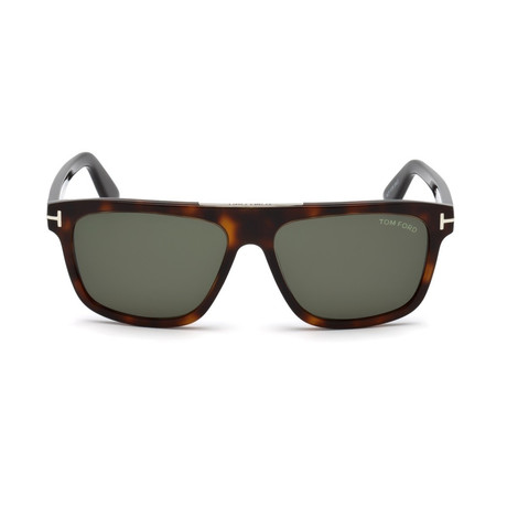 Men's Cecilo Wayfarer Sunglasses // Havana + Green