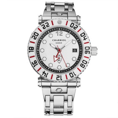 Charriol GMT Quartz // RT42GMTWT42G02
